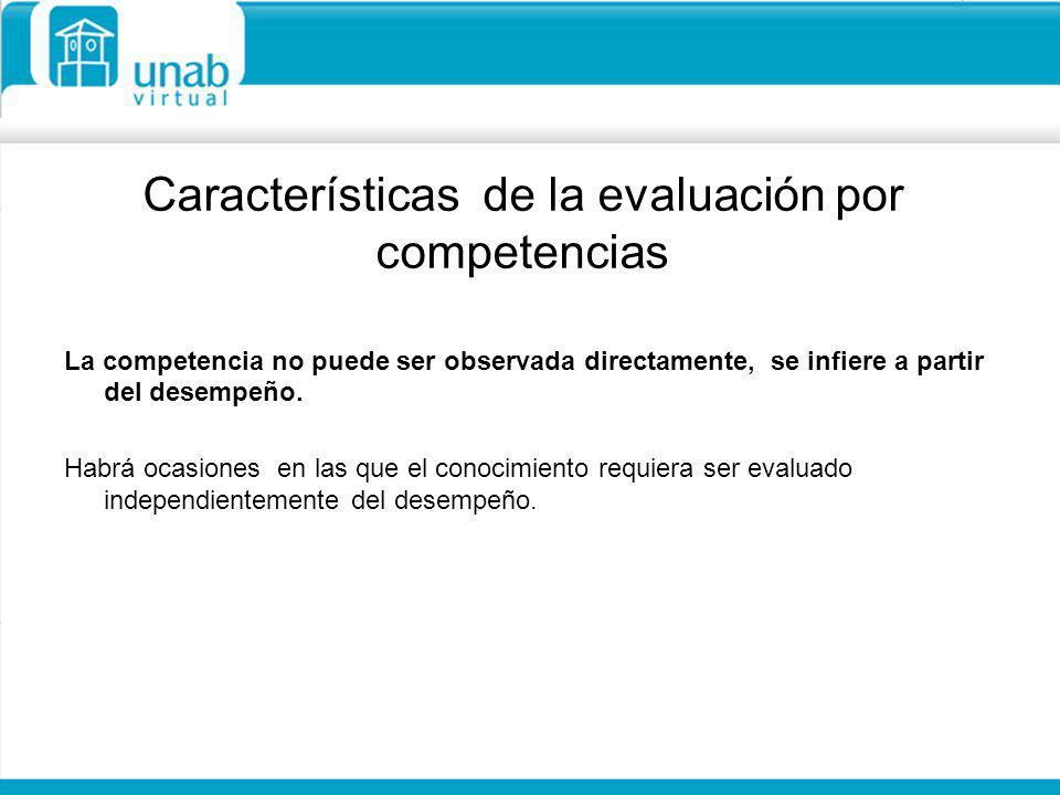 Características de la evaluación por competencias