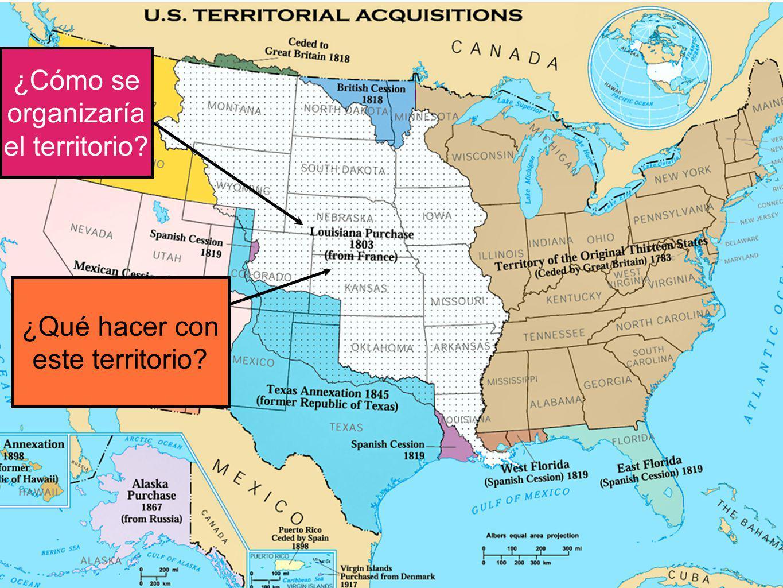 ¿Cómo se organizaría el territorio