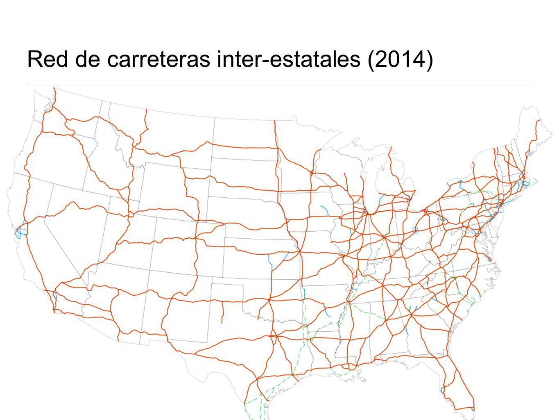 Red de carreteras inter-estatales (2014)