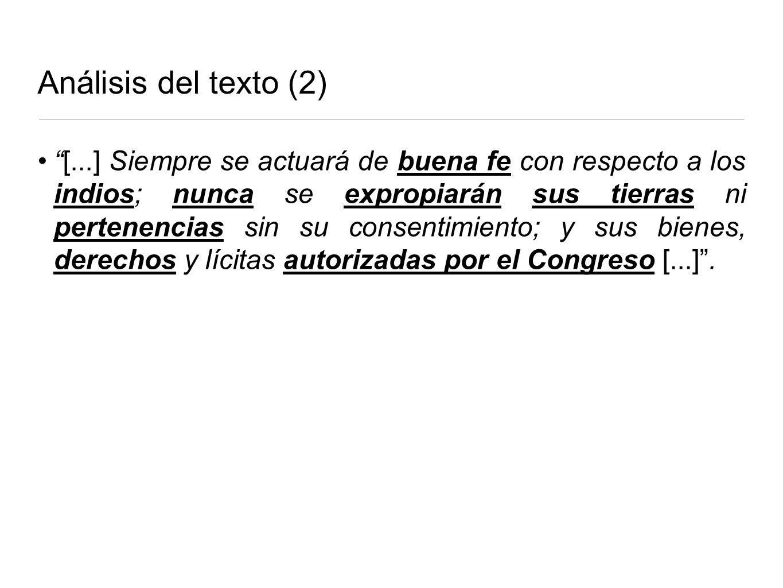 Análisis del texto (2)