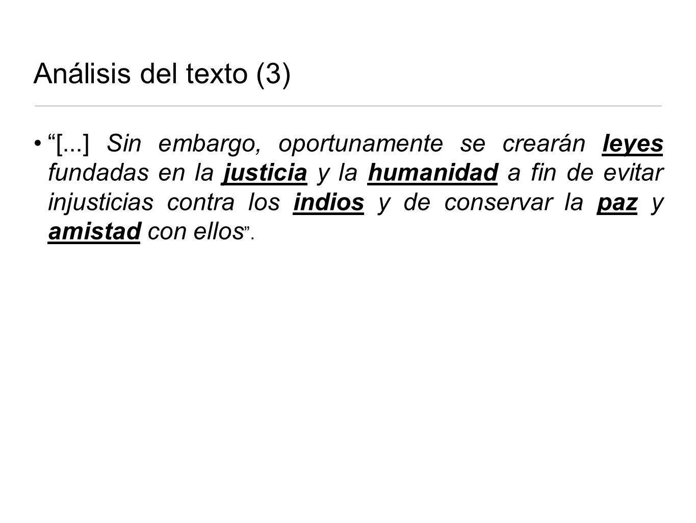 Análisis del texto (3)