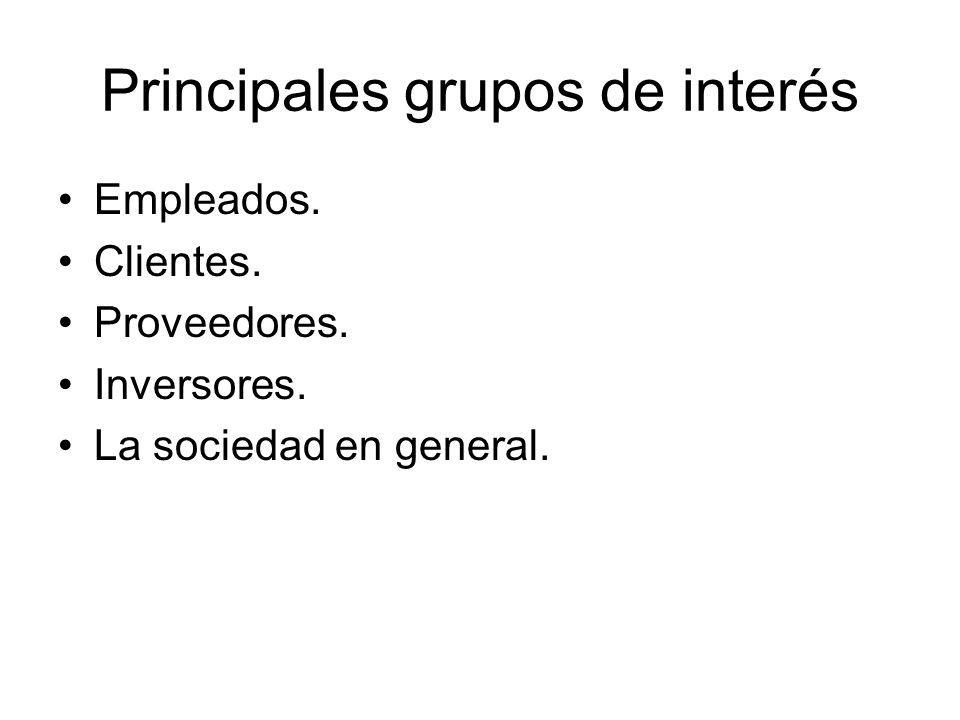 Principales grupos de interés