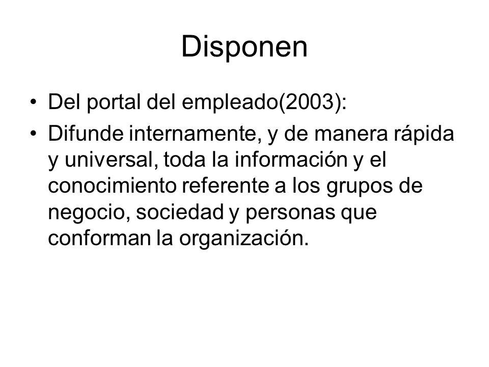 Disponen Del portal del empleado(2003):