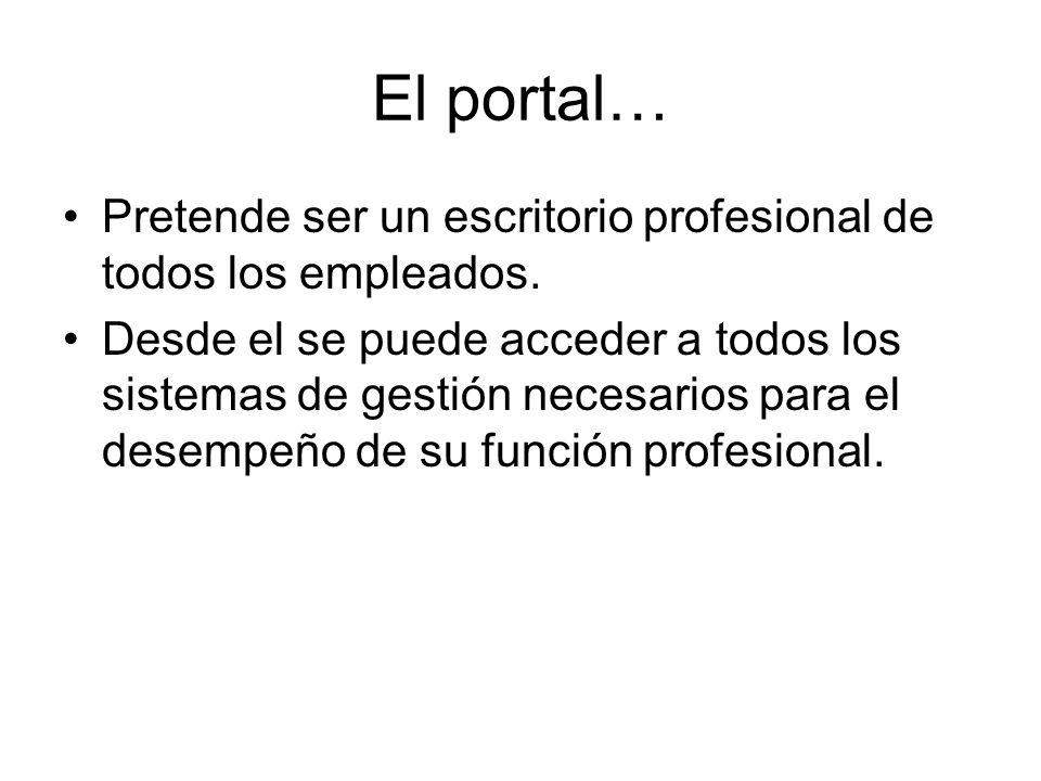 El portal… Pretende ser un escritorio profesional de todos los empleados.