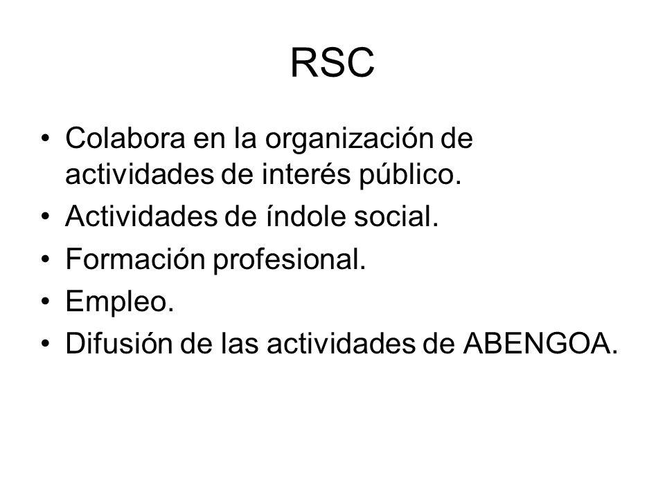 RSC Colabora en la organización de actividades de interés público.