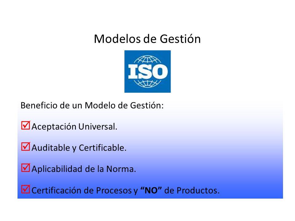 Modelos de Gestión Beneficio de un Modelo de Gestión: