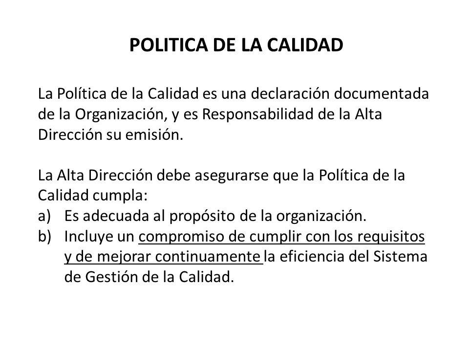 POLITICA DE LA CALIDAD