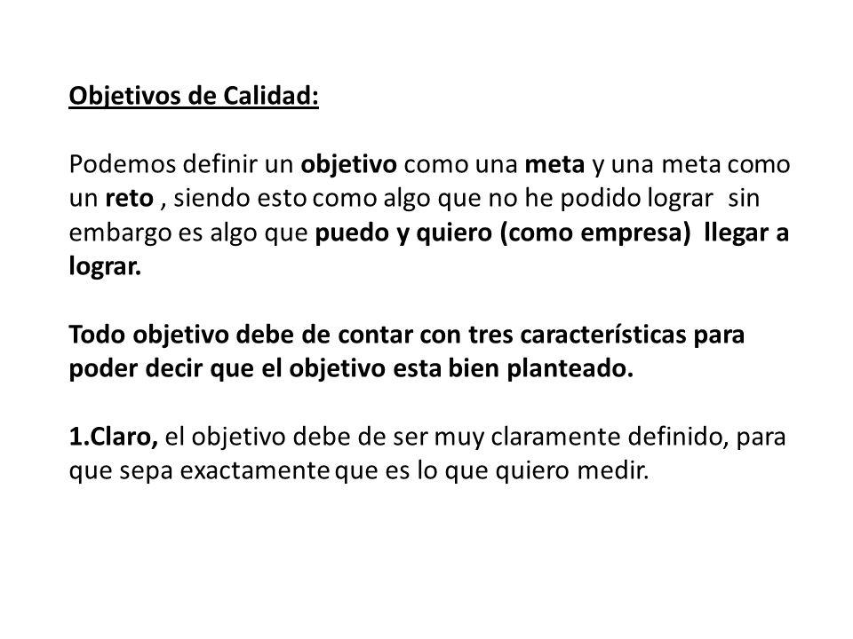 Objetivos de Calidad: