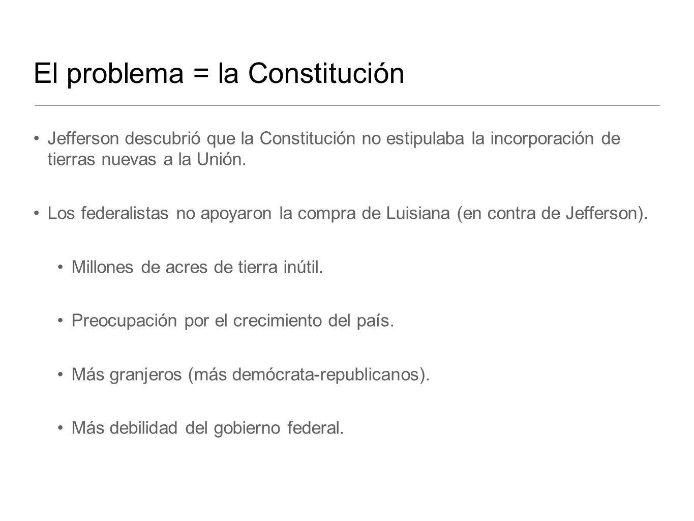 El problema = la Constitución