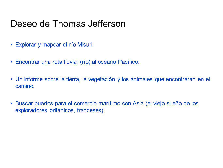 Deseo de Thomas Jefferson