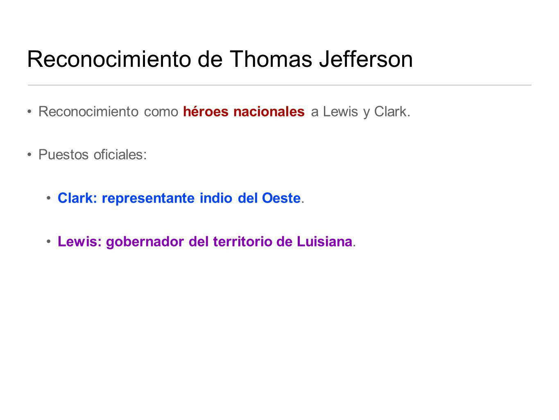 Reconocimiento de Thomas Jefferson