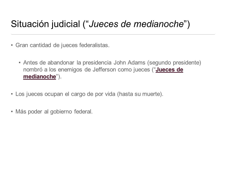 Situación judicial ( Jueces de medianoche )