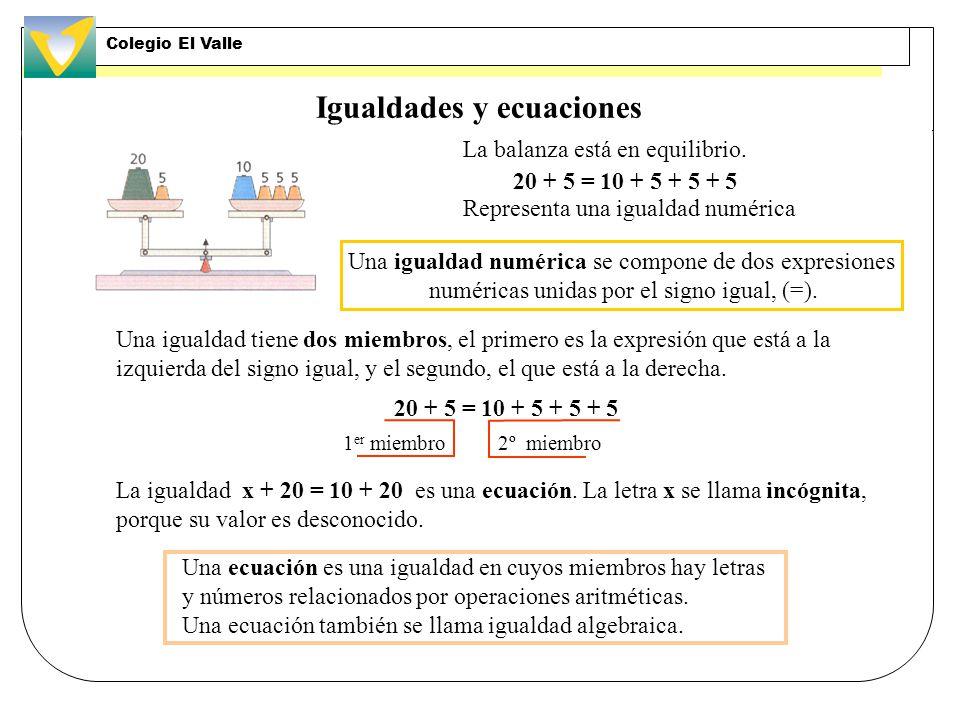 Igualdades y ecuaciones