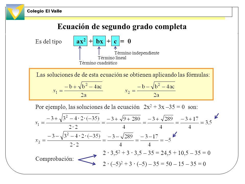 Ecuación de segundo grado completa