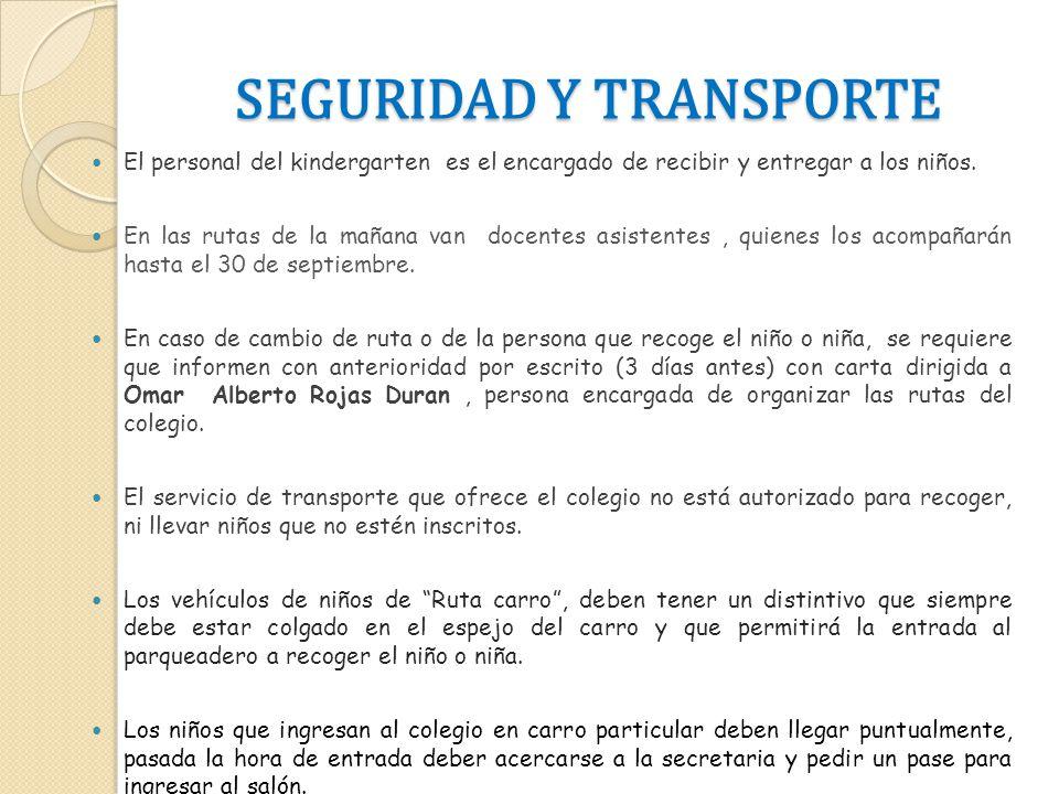 SEGURIDAD Y TRANSPORTE