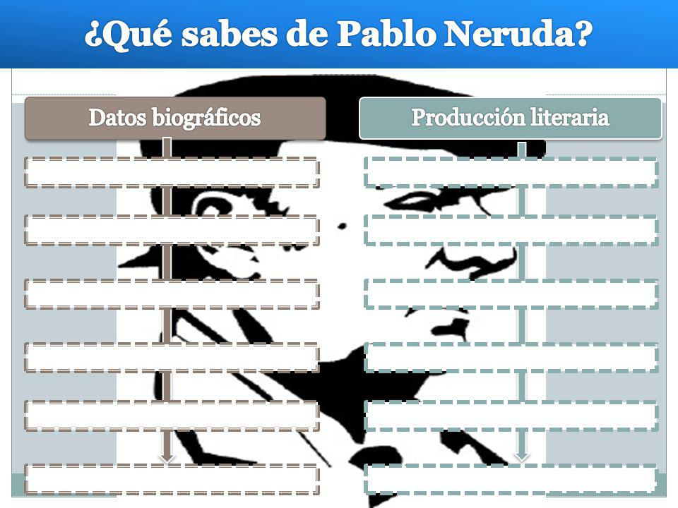 ¿Qué sabes de Pablo Neruda