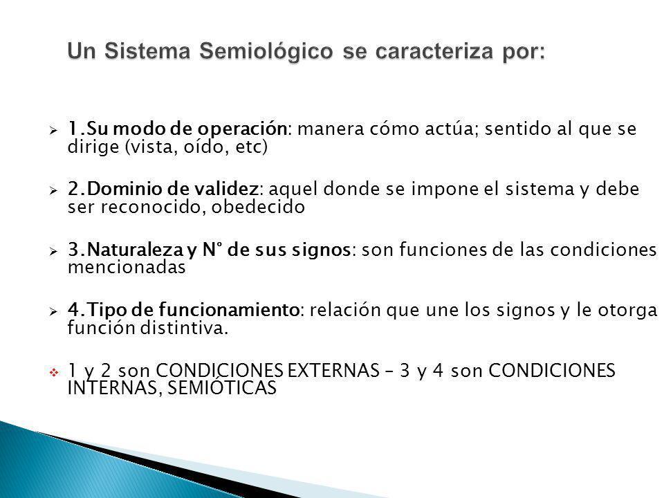 Un Sistema Semiológico se caracteriza por: