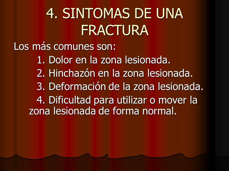 4. SINTOMAS DE UNA FRACTURA