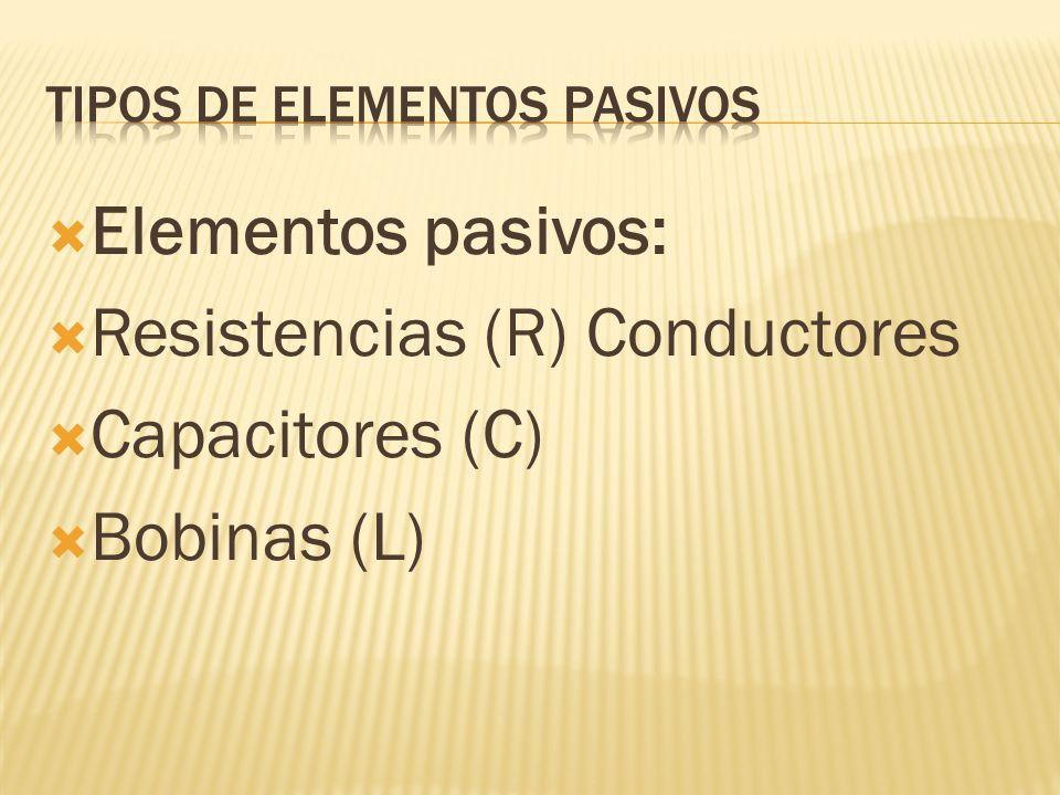 Tipos de elementos pasivos