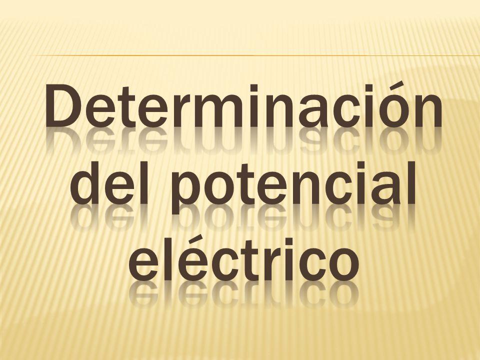 Determinación del potencial eléctrico