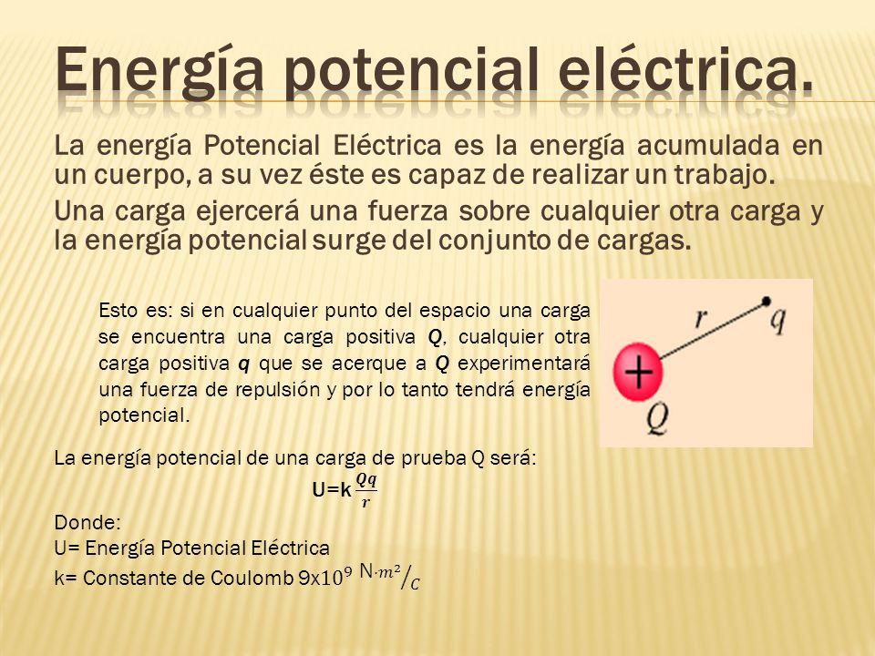 Energía potencial eléctrica.