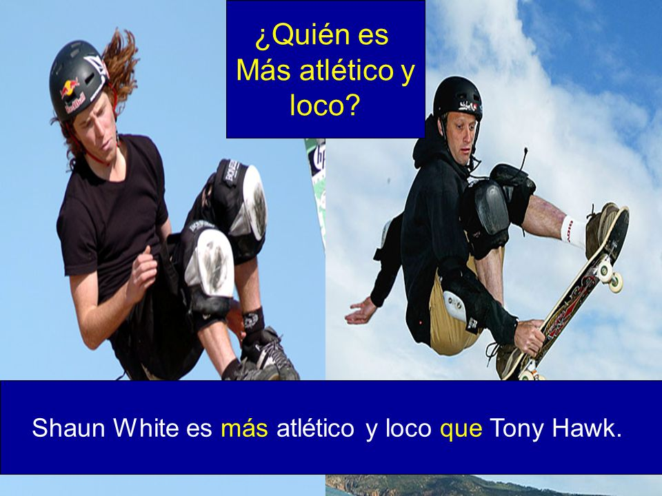 Shaun White es más atlético y loco que Tony Hawk.