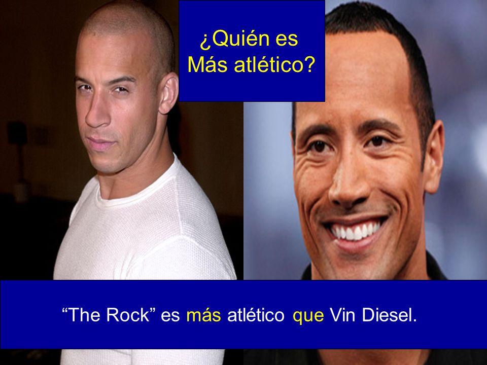 The Rock es más atlético que Vin Diesel.