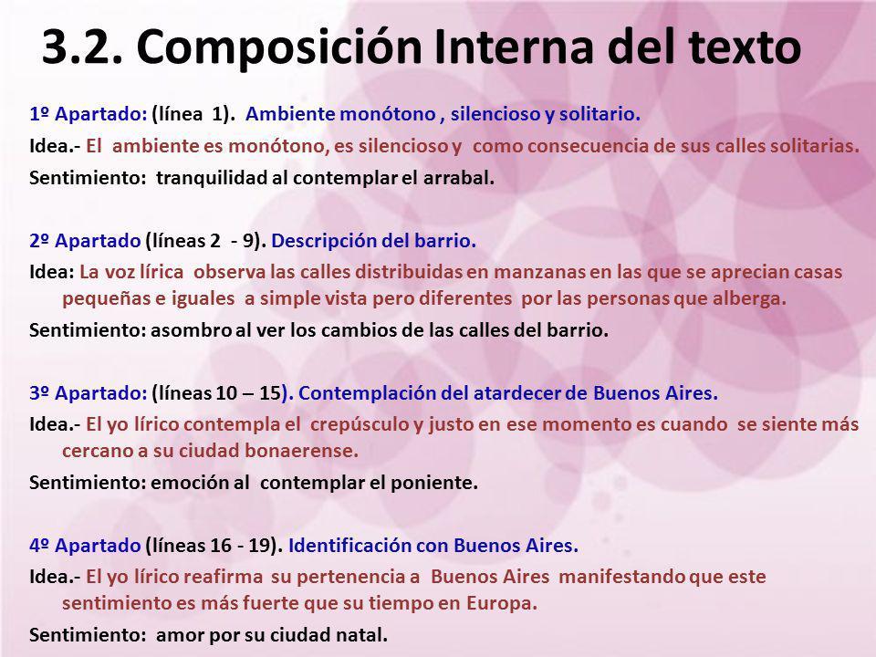 3.2. Composición Interna del texto