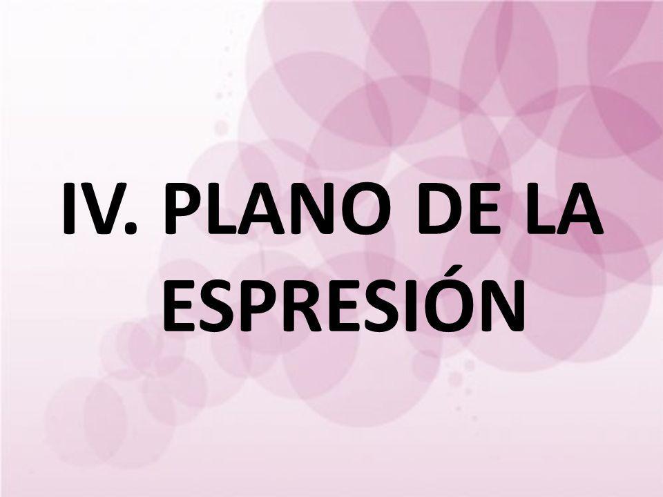 IV. PLANO DE LA ESPRESIÓN