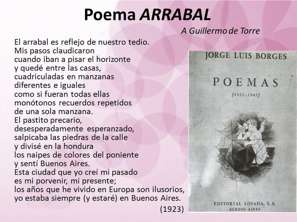 Poema ARRABAL A Guillermo de Torre.