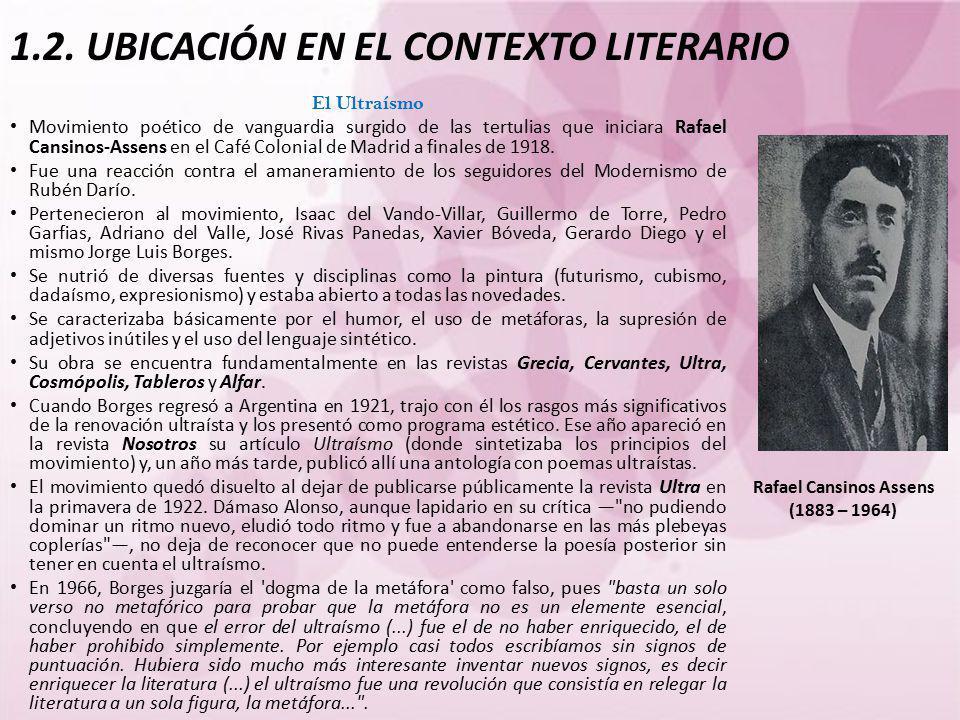 1.2. UBICACIÓN EN EL CONTEXTO LITERARIO
