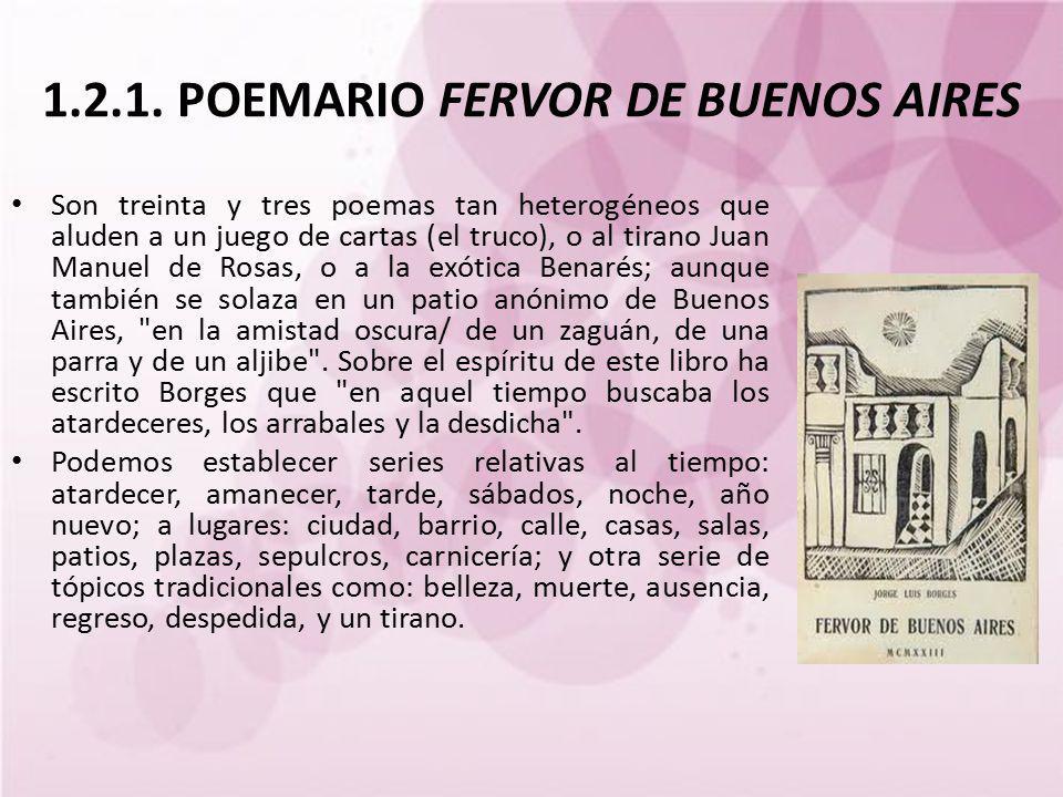 1.2.1. POEMARIO FERVOR DE BUENOS AIRES