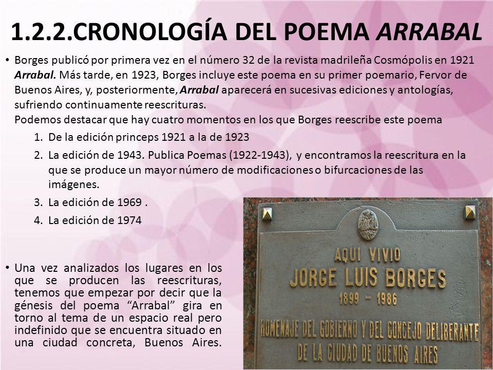 1.2.2.CRONOLOGÍA DEL POEMA ARRABAL