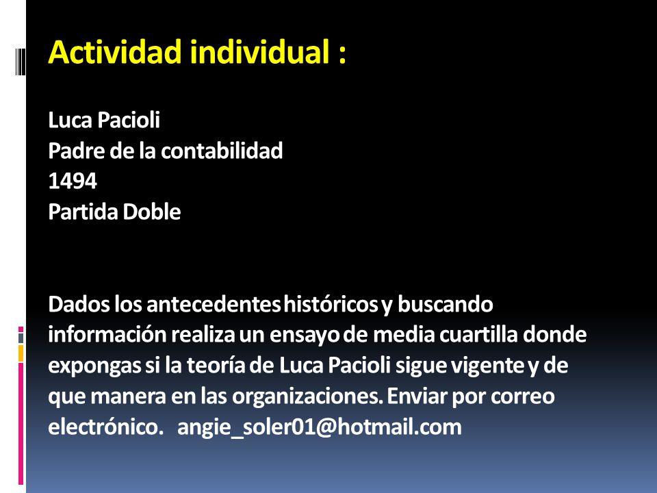 Actividad individual :