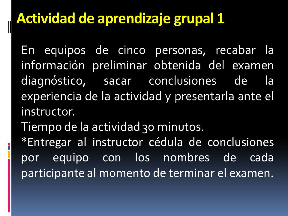 Actividad de aprendizaje grupal 1
