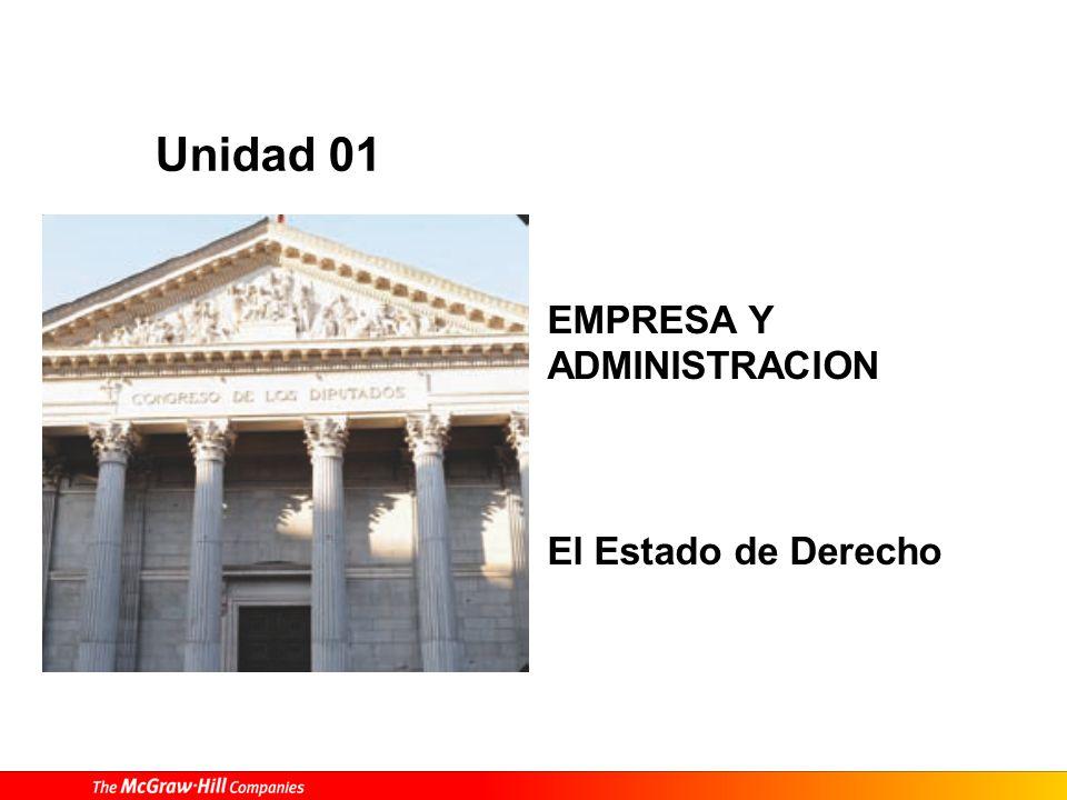 EMPRESA Y ADMINISTRACION El Estado de Derecho