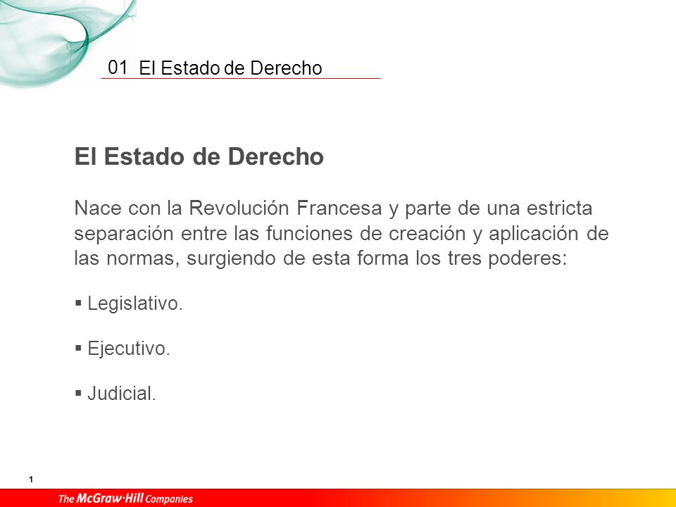 01 El Estado de Derecho.