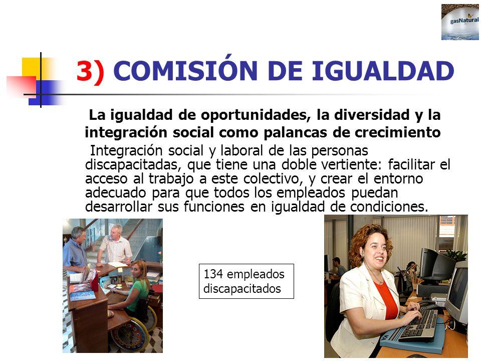 3) COMISIÓN DE IGUALDADLa igualdad de oportunidades, la diversidad y la. integración social como palancas de crecimiento.