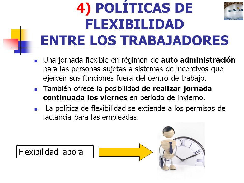 4) POLÍTICAS DE FLEXIBILIDAD ENTRE LOS TRABAJADORES