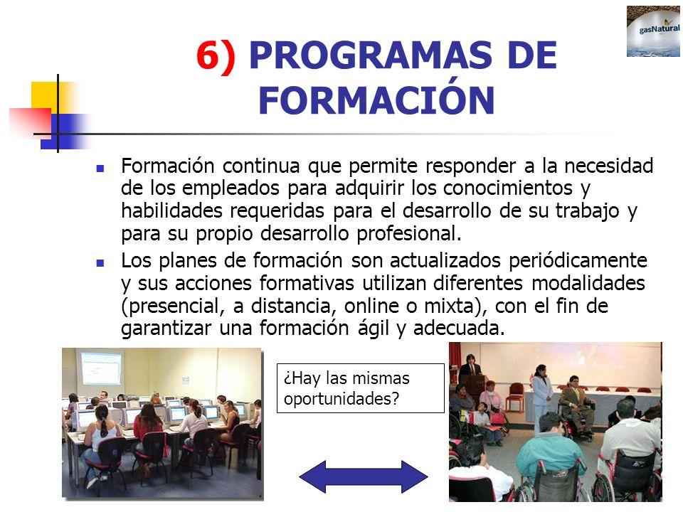 6) PROGRAMAS DE FORMACIÓN
