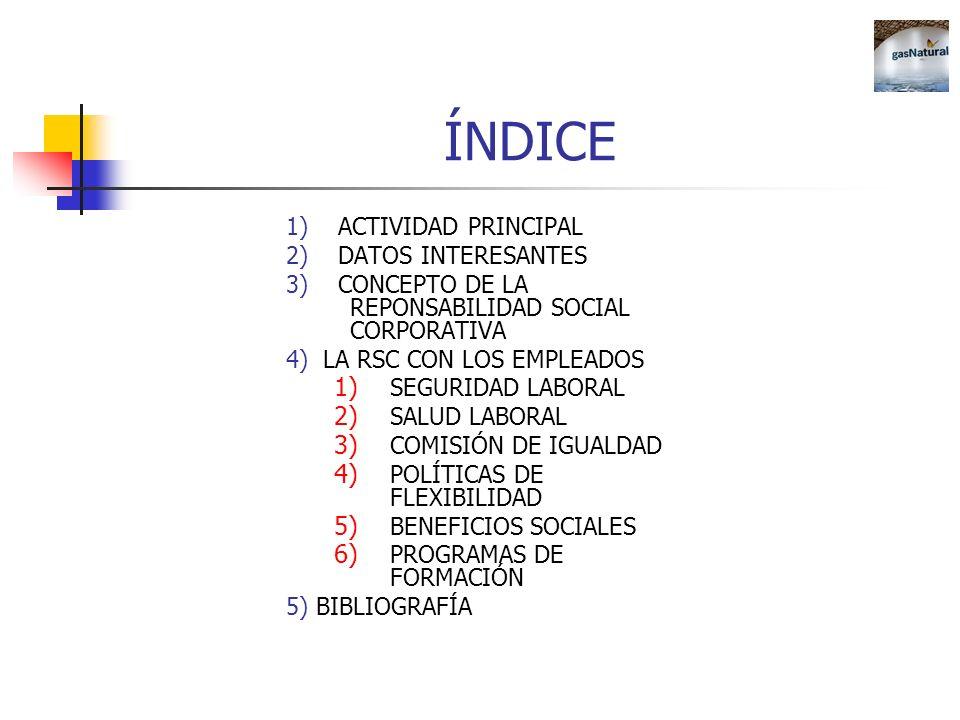 ÍNDICE 1) ACTIVIDAD PRINCIPAL 2) DATOS INTERESANTES