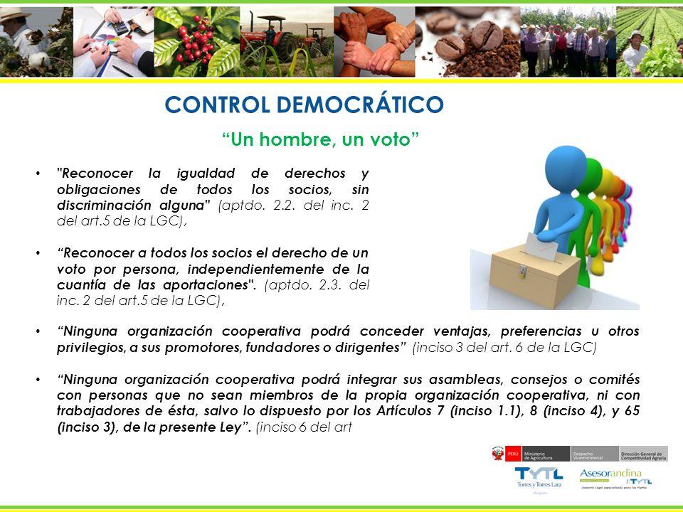 CONTROL DEMOCRÁTICO Un hombre, un voto