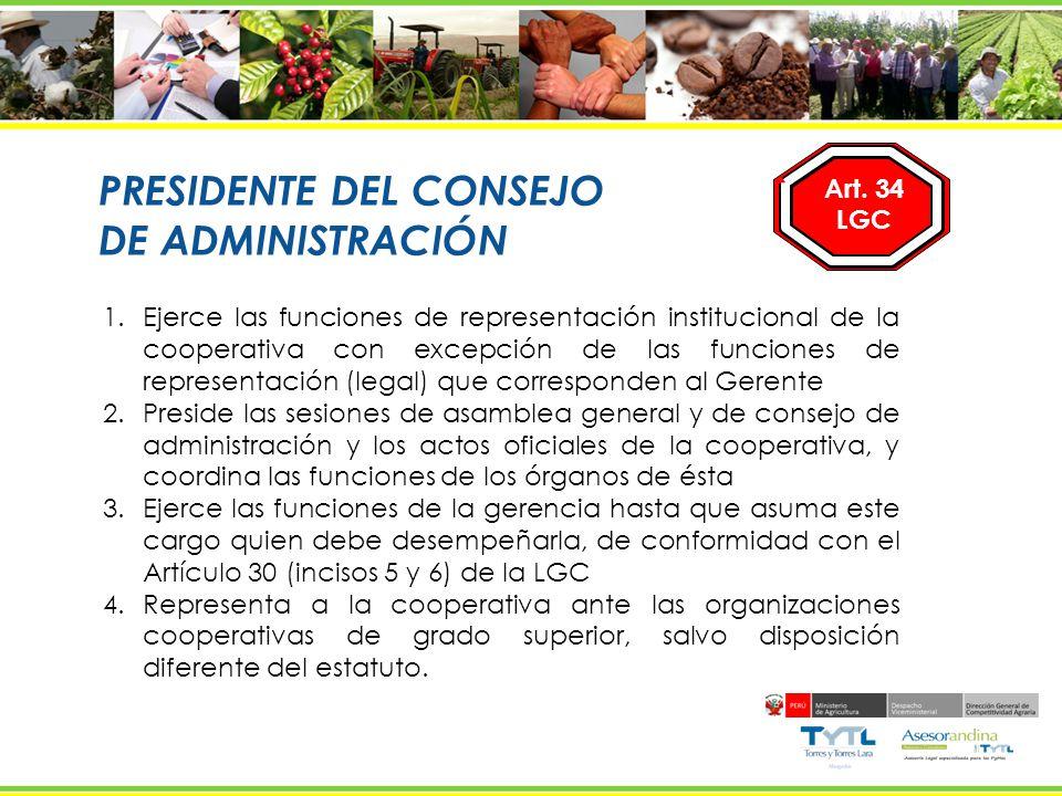 PRESIDENTE DEL CONSEJO DE ADMINISTRACIÓN