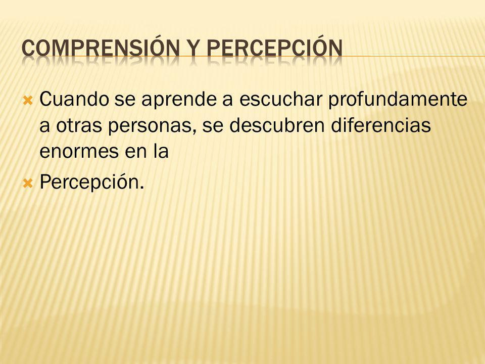 Comprensión y percepción