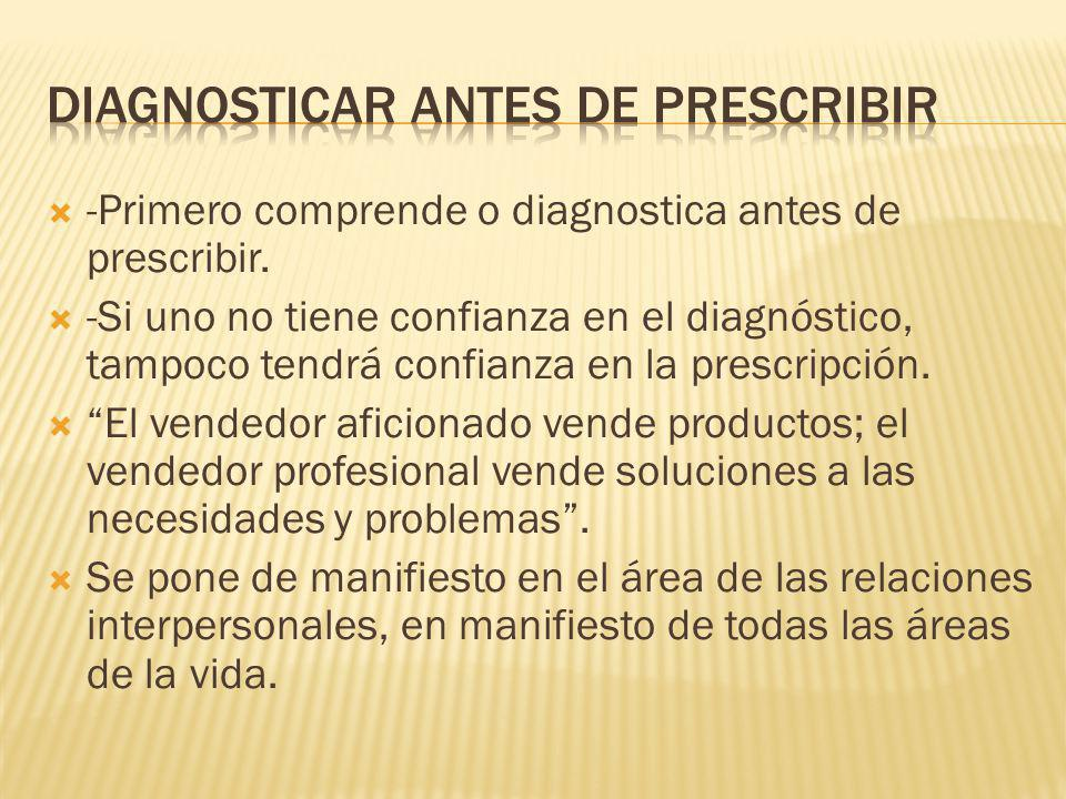 Diagnosticar antes de prescribir