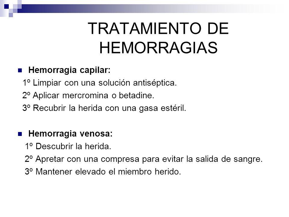 TRATAMIENTO DE HEMORRAGIAS
