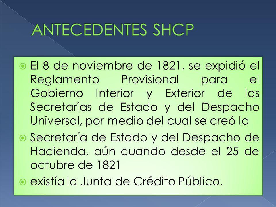 ANTECEDENTES SHCP