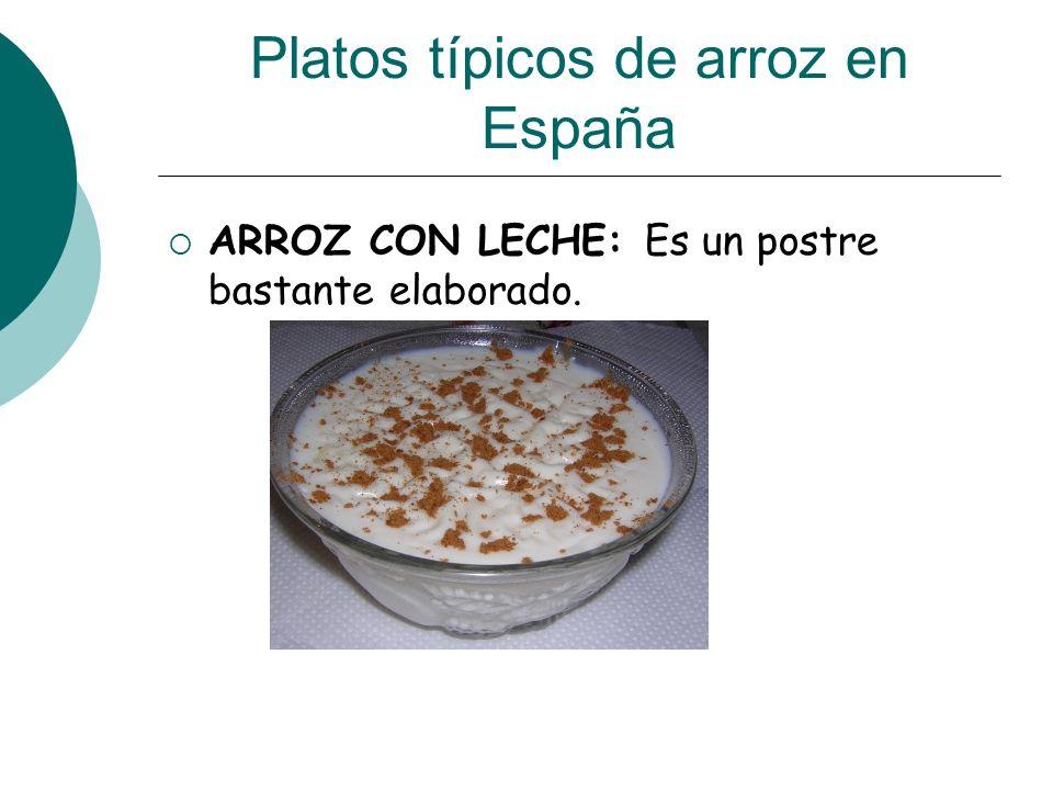 Platos típicos de arroz en España