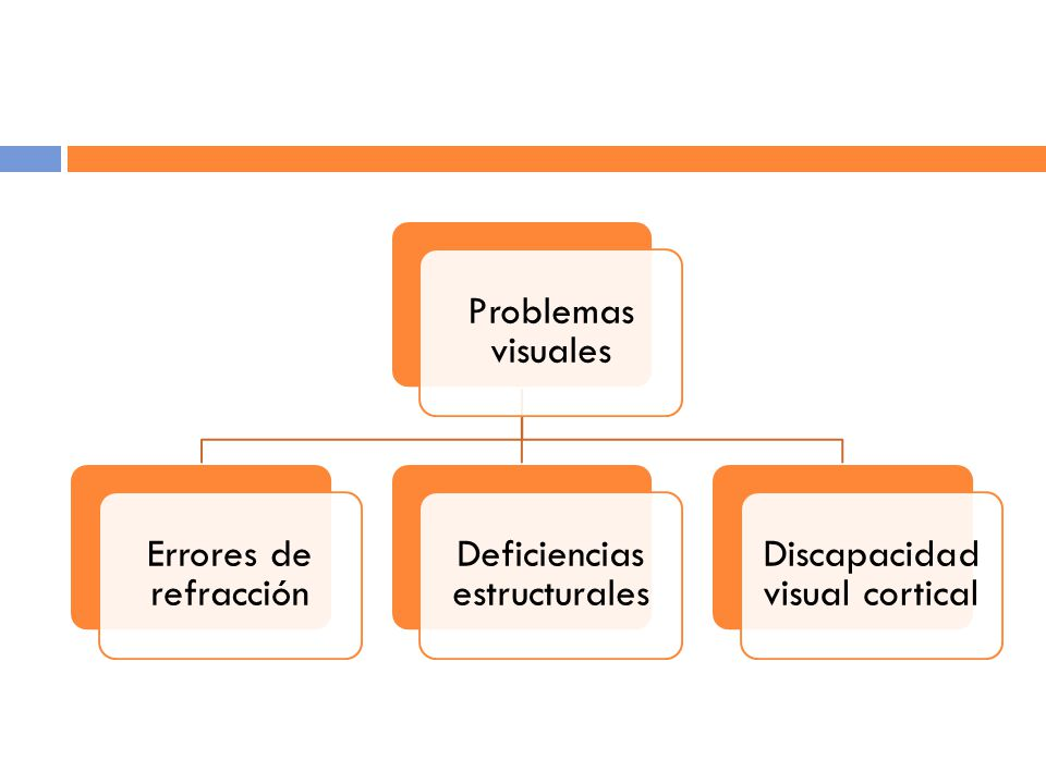 Deficiencias estructurales Discapacidad visual cortical