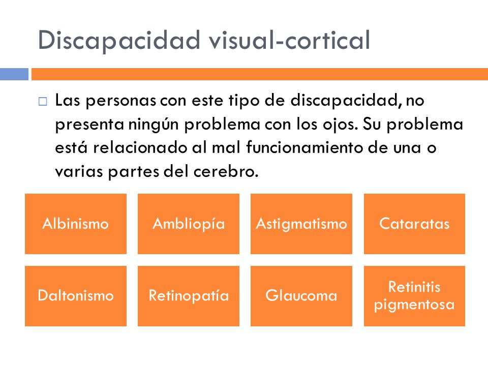 Discapacidad visual-cortical